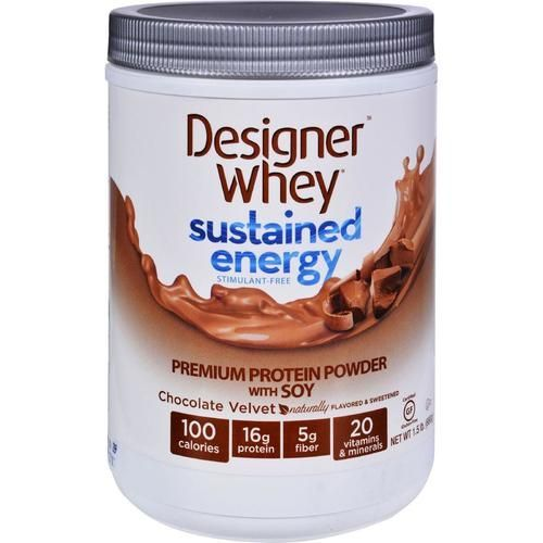 Designer Whey Protein Powder - Sustained Energy - Chocolate Velvet - 1.5 Lb