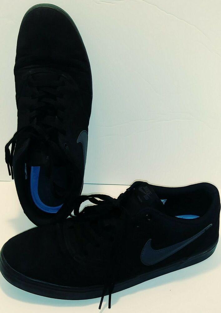 Nike Unisex Sb Check Solar Cnvs Black Anthracite Skate Shoe Men Us 14 Nike Skateshoes All Black Sneakers Triple Black Nike Sb
