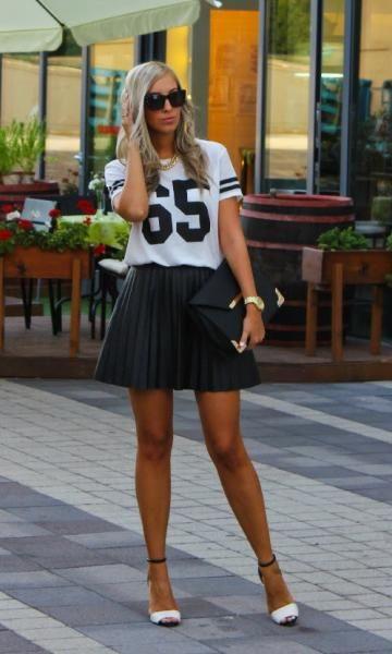 sporty + skirt