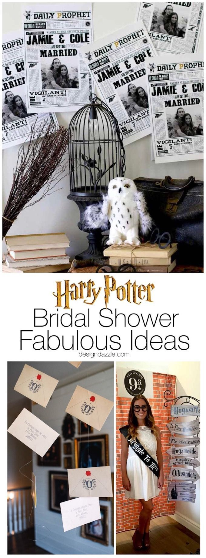 """Is your bride to be a Harry Potter fanatic? This Harry Potter themed bridal shower will make her """"Muggle to Mrs."""" dreams come true! 