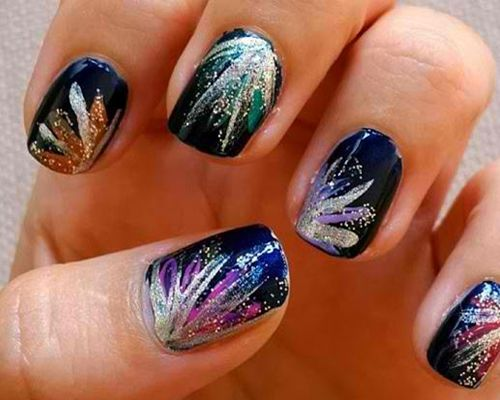 22 Festive Fireworks Nail Art Ideas For July - 25+ Unique Firework Nail Art Ideas On Pinterest Firework Nails