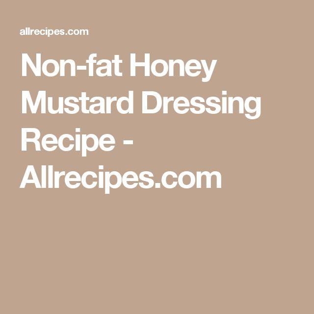 Non-fat Honey Mustard Dressing Recipe - Allrecipes.com