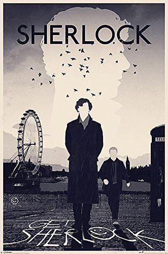 "Poster de Sherlock ""Get Sherlock"" (61cm x 91,5cm) + un joli emballage cadeau"