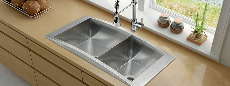 25 best kitchens ctps color images on pinterest for Colored stainless steel sinks