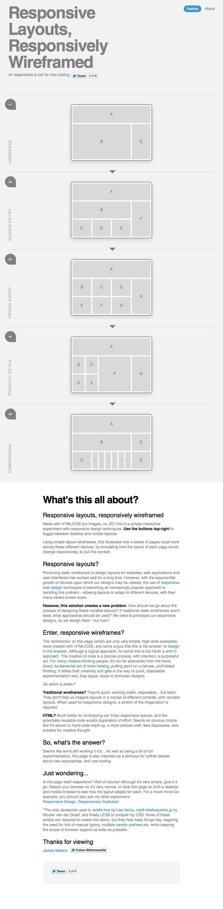 Responsive web design layout wireframe cool infographic
