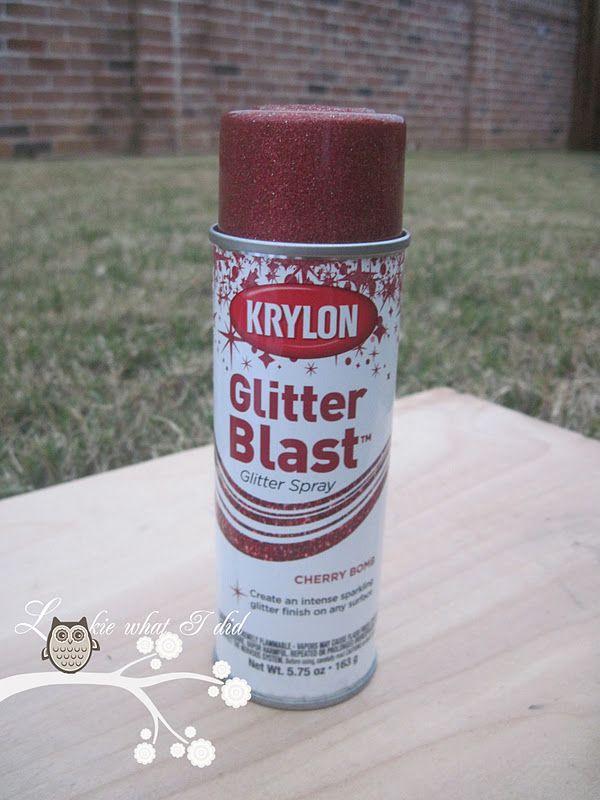 Lookie What I Did: Christmas Glass Block using Krylon Glitter Blast