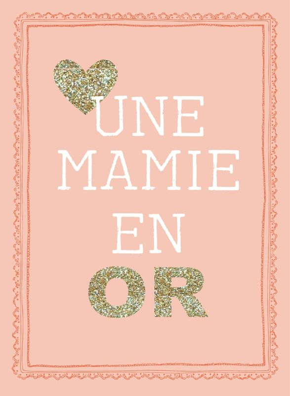 Carte à imprimer pour sa Mamie !