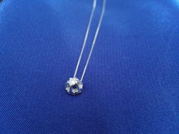 18Κ gold OneStone Pendant with Brilliant - 18Κ χρυσό Μονόπετρο Μοτίφ με Μπριγιάν