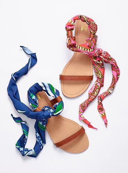 Flat Scarf Sandal $24,99