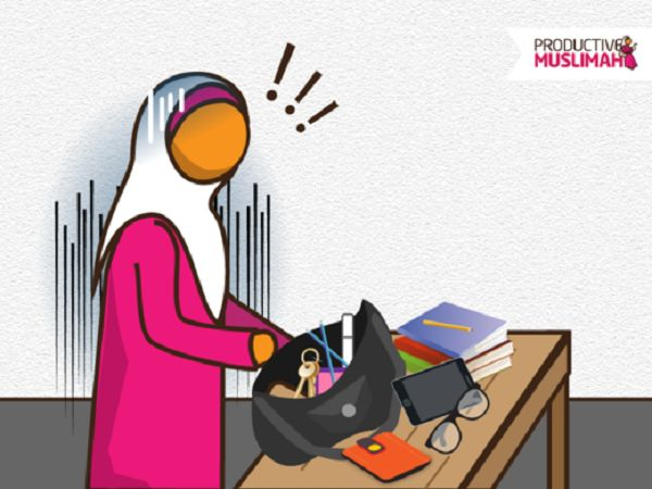 Productive Muslimah bag (hand bag) secrets for sisters: Learn the benefits of having an organised hand bag & boost your productivity & create a stress-free mind