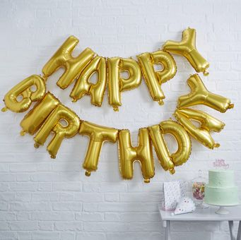 A fun and eye catching balloon bunting perfect for birthday parties!