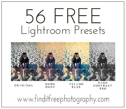 A whole set for FREE! All! This will be all the Lightroom Presets I need! Yay!