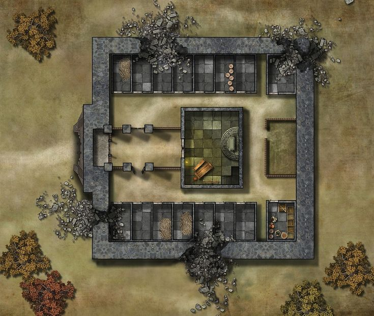 "Floorplan Of An Abandoned / Ruined Monastery. (""Old"