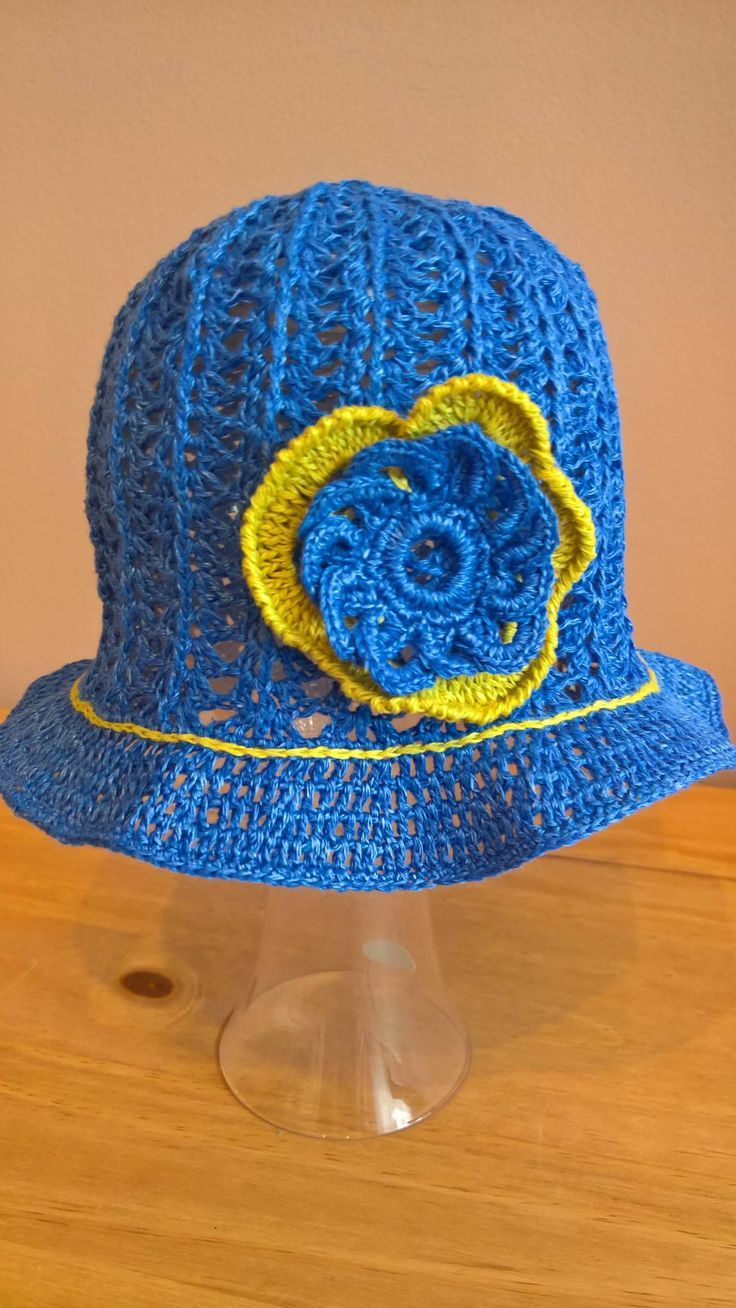 Crochet Linen Summer Baby Hat, Girl hat, Crochet baby hat, Crochet linen hat with flower. Sun Hat. Spring hat.   A cute girly hat for everyday wear. This is a great hat for spring and summer . This entirely handmade crochet hat.  Perfect for shower gifts (scheduled via http://www.tailwindapp.com?utm_source=pinterest&utm_medium=twpin&utm_content=post157809645&utm_campaign=scheduler_attribution)