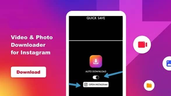 How To Download Photo Videos On Instagram Android In 2020 Instagram Photo Save Video