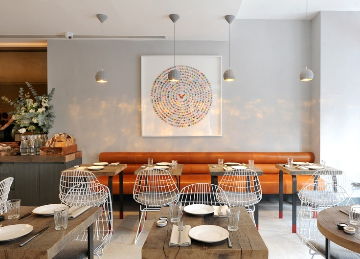 gails bakery bloomsbury by box 9 design pastoe wire chairs supplied by viaduct