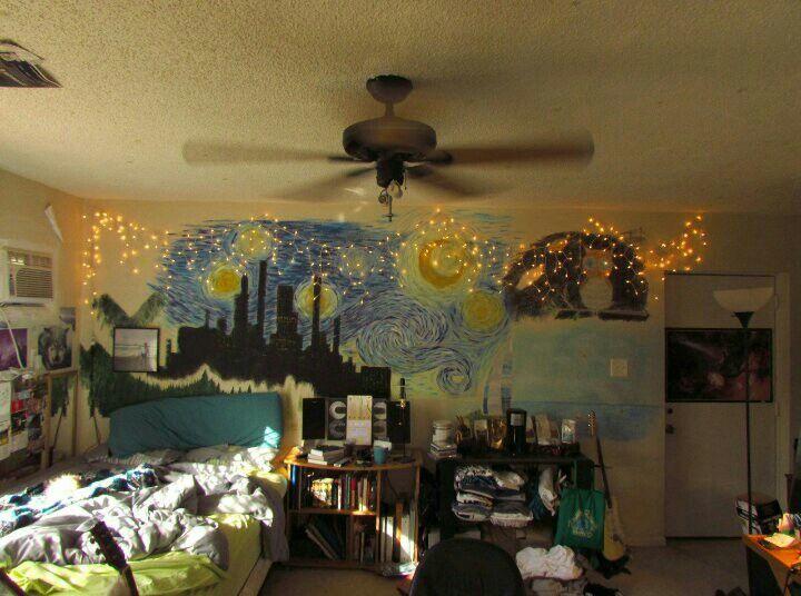 Vincent Van Gogh Is Still Alive Starry Night Room Decorando