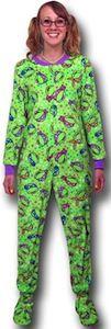 Teenage Mutant Ninja Turtles Faces Women's Footed Pajamas