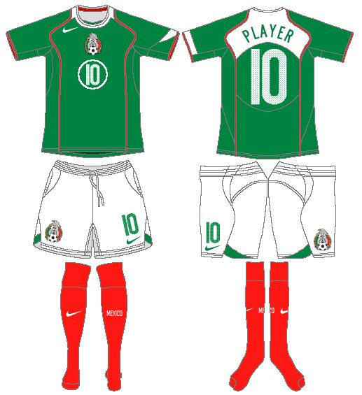 Mexico | home jersey | 2004-06