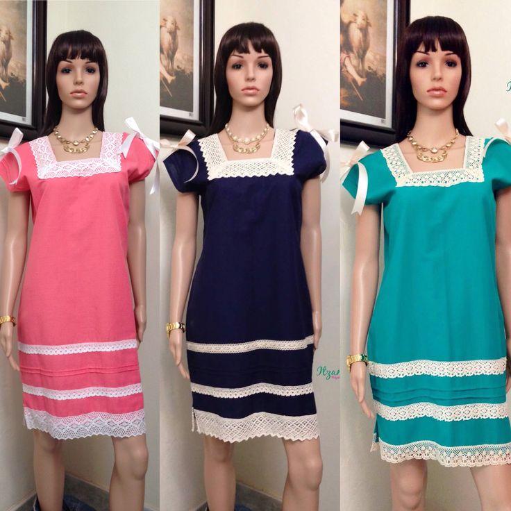 $500 Vestidos de Yucatán en lino y finos encajes. Fan page: Itzamara