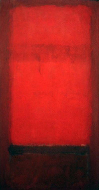 Mark Rothko, 'Light red over dark red'