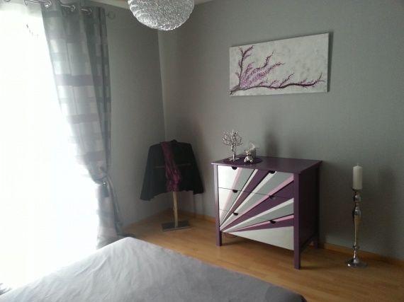 1000 id es sur le th me chambre violet gris sur pinterest for Chambre parentale grise