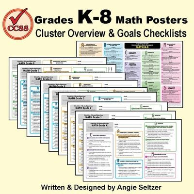 K-8 MathPaths  from  Grades K-8 Common Core Math Standards Posters ~ CCSS Overview & Checklists on TeachersNotebook.com -  (17 pages) - These 10 posters show clearly-written goals for grades K-8 for Common Core math! These also print clearly on letter paper as quick-reference sheets.