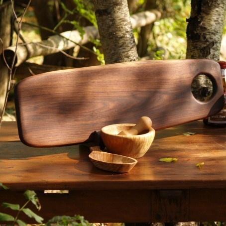 Walnut Slab Serving Board by Cattails Woodwork