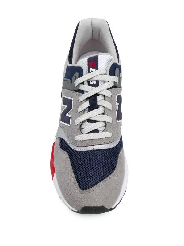 New Balance Colour Blocked Low Top Sneakers Farfetch In 2021 Top Sneakers Sneakers Grey Leather