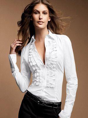 aa2ba2790b3 Стильные белые женские рубашки на 2017 год  фото модных и красивых моделей