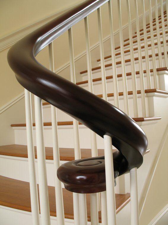 Custom Made Mahogany Curved Hand Rail by Dan Ober