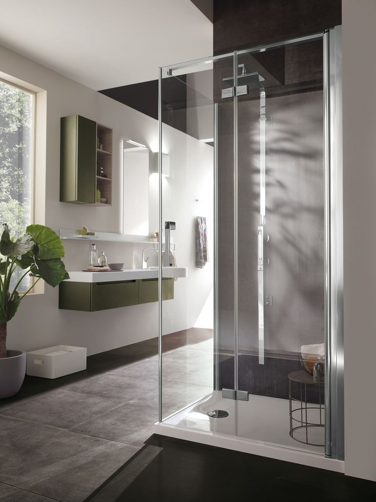 Idro Collection by Scavolini | Design and creativity meet perfect functionality | #bathrooms | shower enclosures