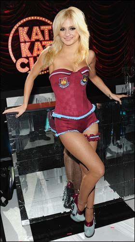 Pixie Lott (singer) - West Ham United