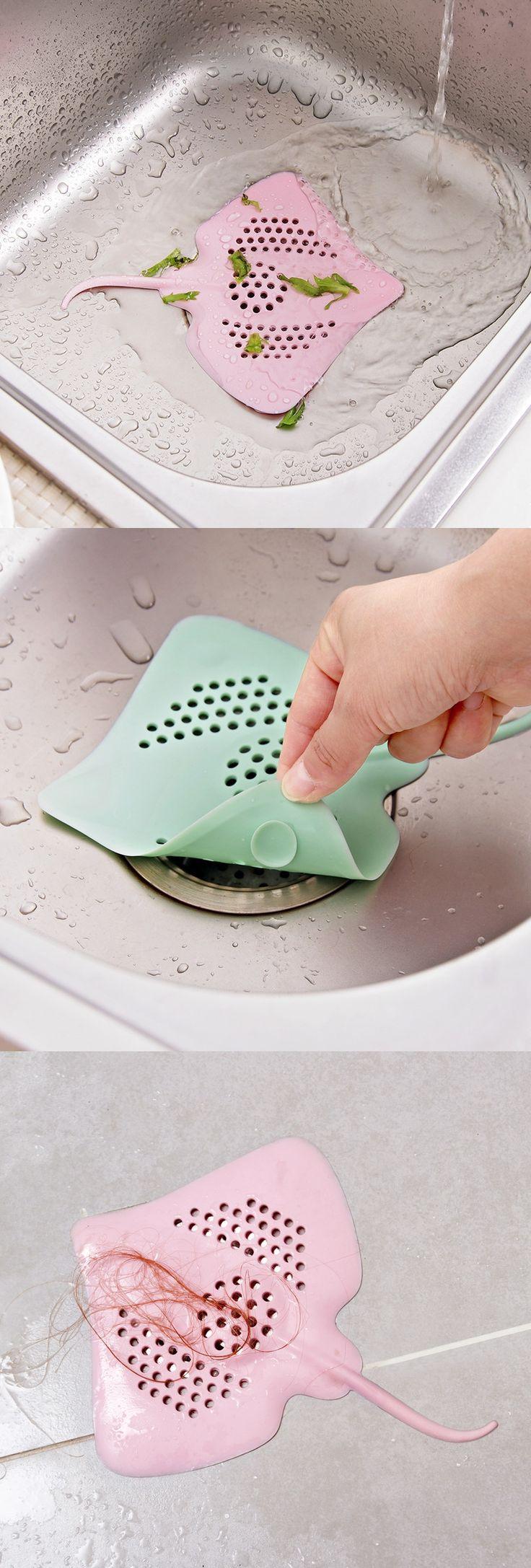 US$3.65 Plastic Kitchen Bathroom Sink Filter Drain Cover Hairs Food Waste Strainer Stopper Sink Bathtub Prot