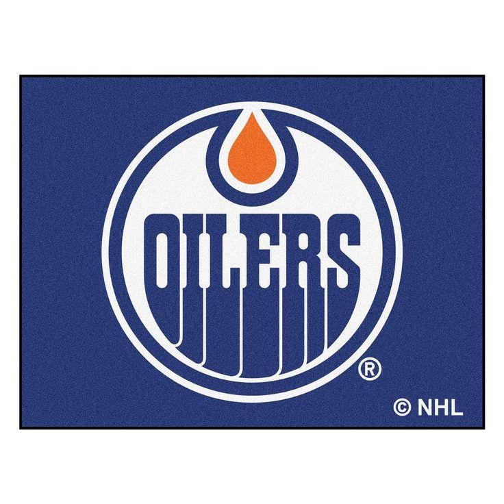 Fanmats Nhl Edmonton Oilers Blue 3 Ft X 4 Ft Indoor All Star Area Rug 10385 Edmonton Oilers Nhl Plush Area Rugs