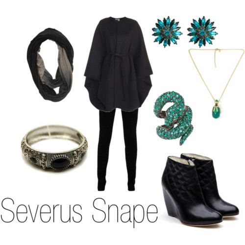 Severus Snape from Harry Potter. I love everything about this outfit