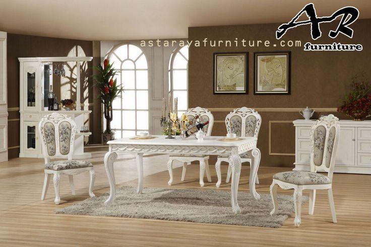 Set Meja Makan New Classic Design Luxury