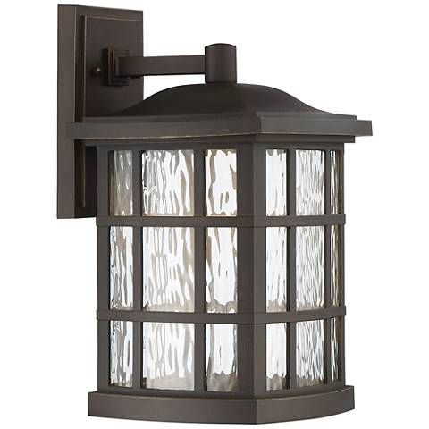 "Stonington 15 1/2""H Palladian Bronze LED Outdoor Wall Light"