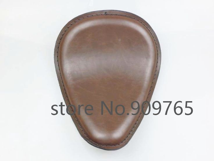 Brown Vintage Retro Motorcycle Leather Solo Seat Chopper Bobber Old Shool Custom CB XL #Affiliate
