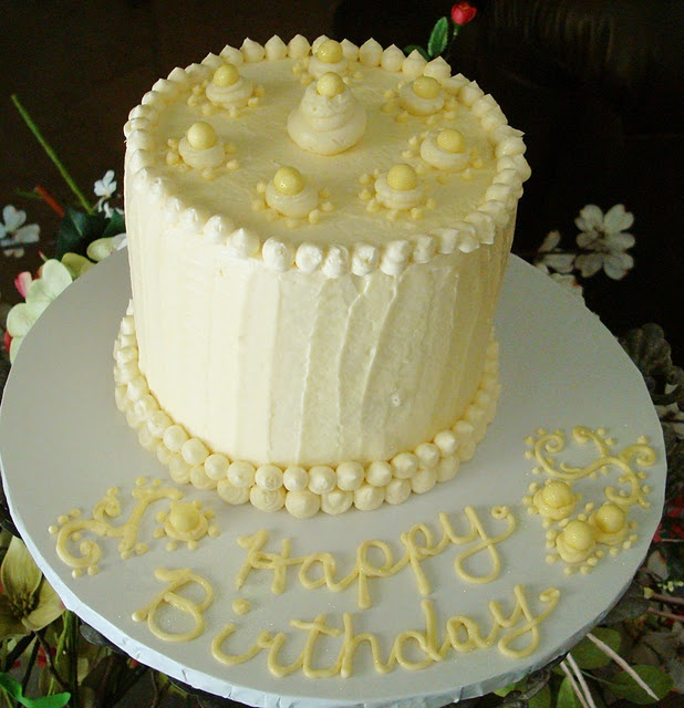 vegan lemon cream cheese birthday cake