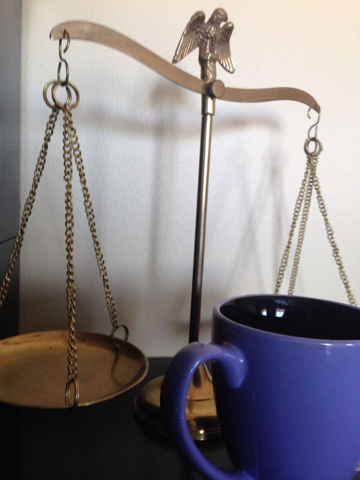 The Cup Tipping the Scales of Justice (photo: Eris Vafias)