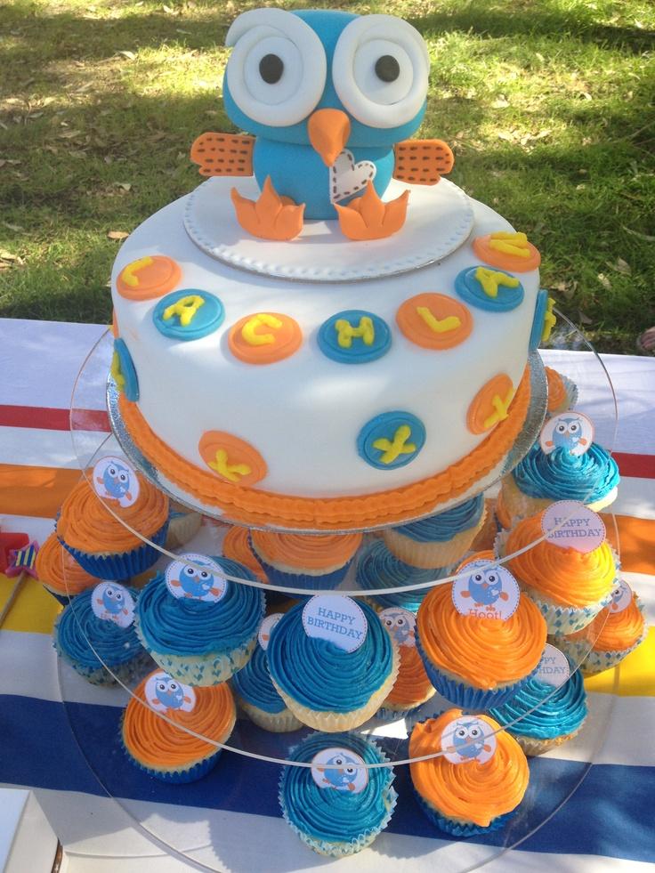 Hoot cake & cupcakes. Giggle and hoot