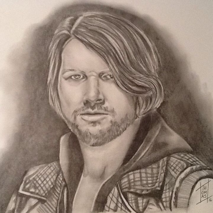 63 best wwe fan art and signs images on pinterest fan for Aj styles coloring pages