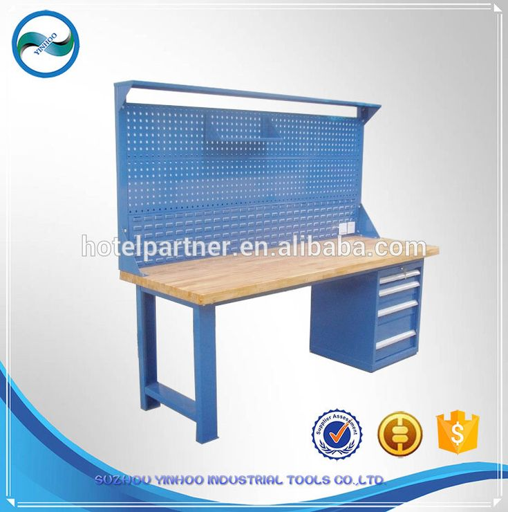 heavy duty workbench with drawers working bench /worktable/workstations with wooden top