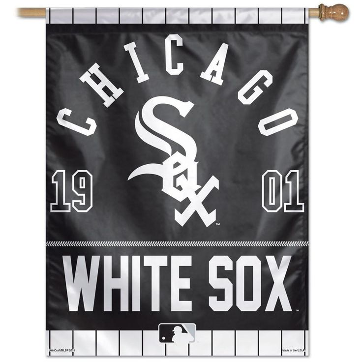 Chicago White Sox Year Of Inception Vertical Flag