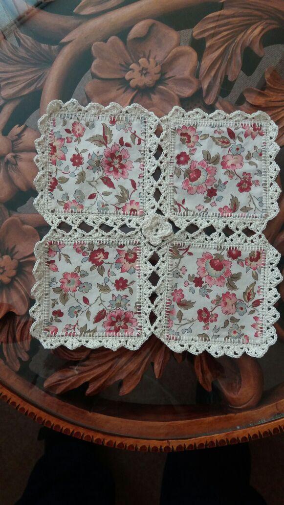 Crochet & Fabric Quilt Tutoria |