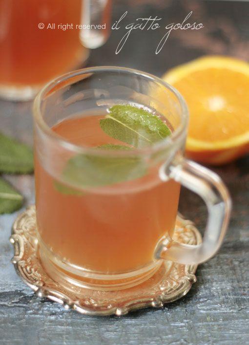 tè nero freddo al profumo di menta