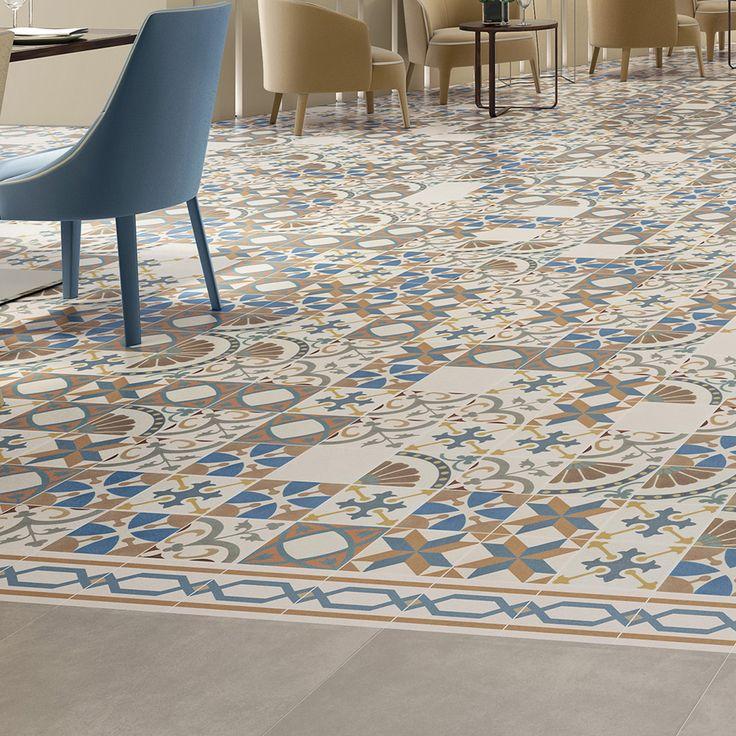 Merola Revival Collection Cement Look Encaustic Tiles