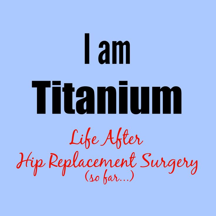 Interesting account of a person after hip replacement surgery.