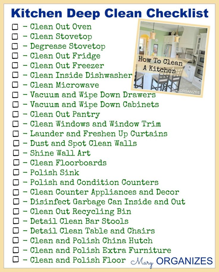 Kitchen Checklist 33 best images about kitchen-cleaning&organizing. on pinterest